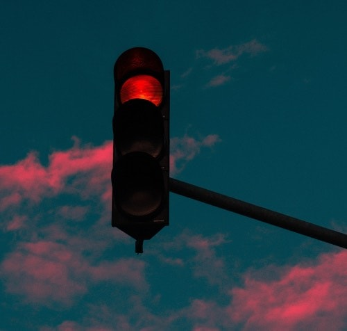 A red stoplight to indicate when healthcare PR agencies say 'no'