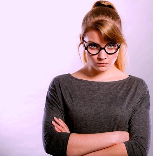 Annoyed journalist