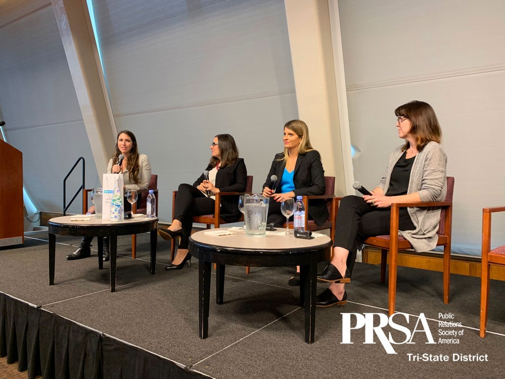 PRSA panel as part of PR-it's thought leadership campaign for founder, Shalon Roth