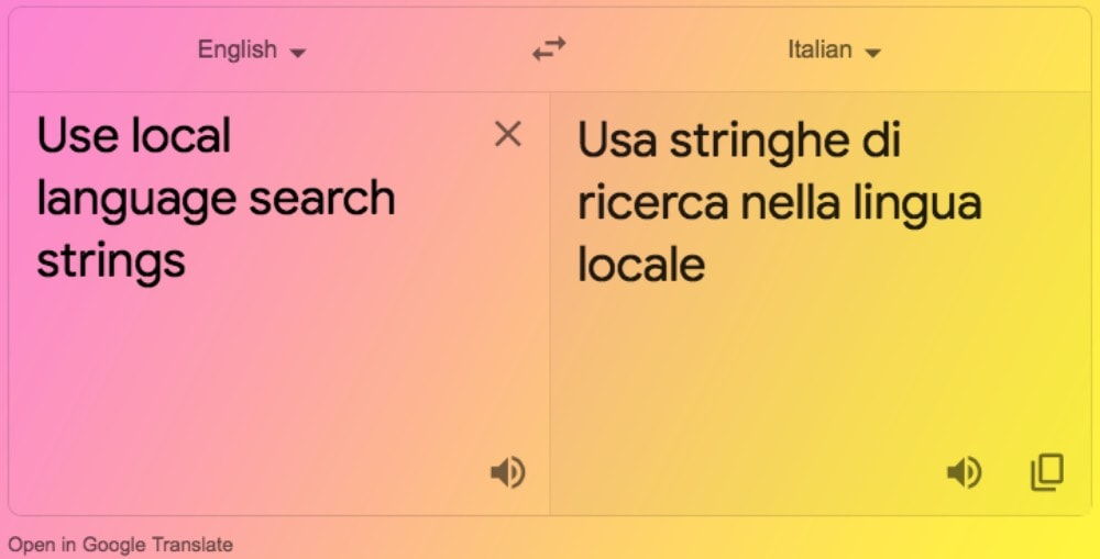 Use Google Translate to create local language search queries for PR measurement